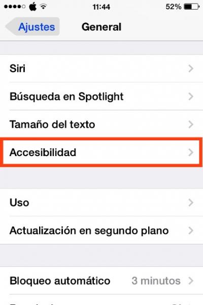 Accesibilidad del iPhone