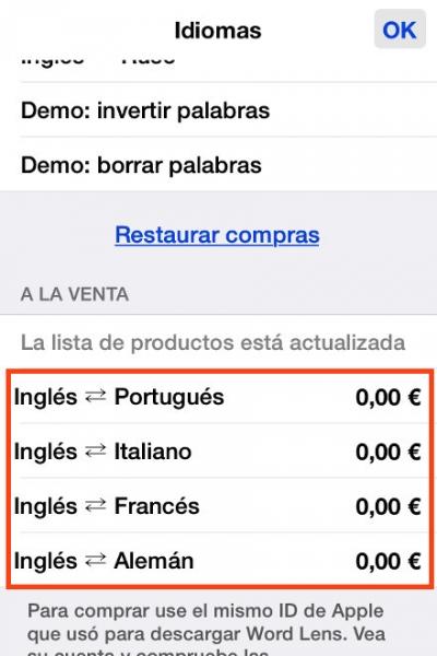 3compra idiomas gratis