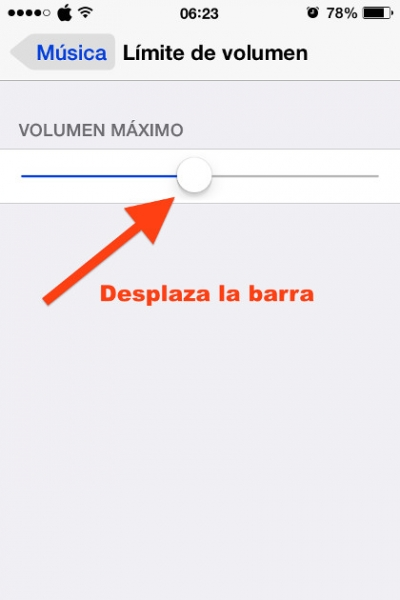 4desplaza barra limite volumen