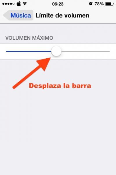 4desplaza barra limite volumen