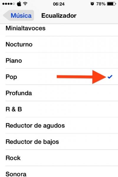 4elegir musica iphone