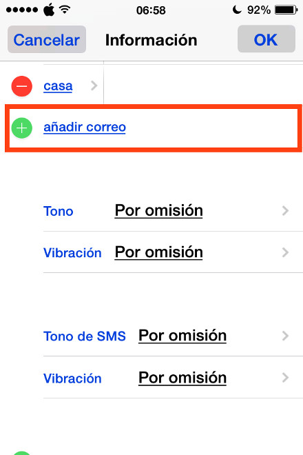 5cambiar email