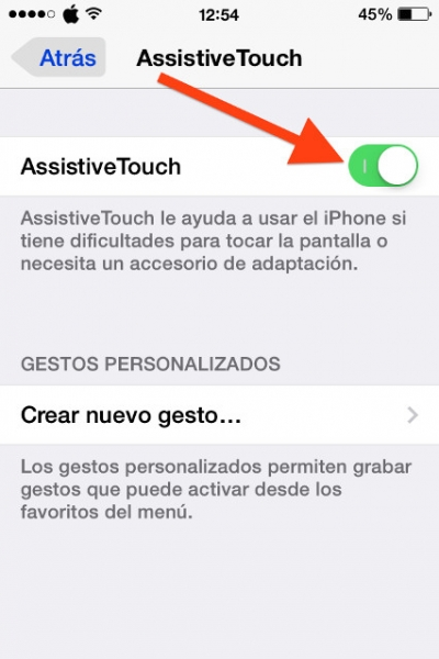 Marca AssistiveTouch