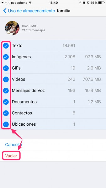 Liberar-espacio-WhatsApp