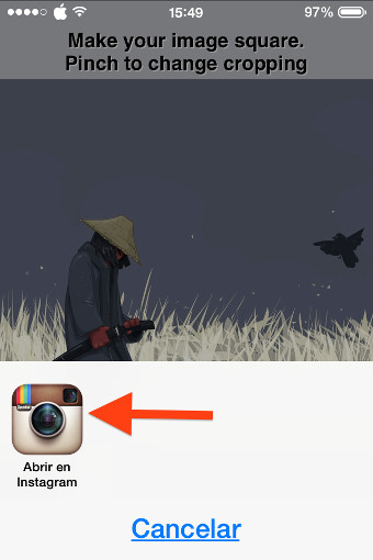 8abrir instagram