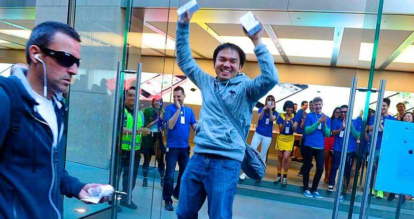 Los chinos se pelean por el iPhone 6 para revenderlo en su país