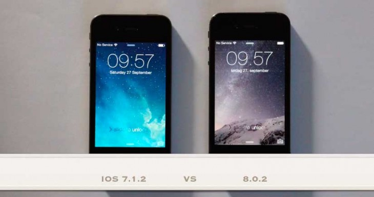 Rendimiento de un iPhone 4S con iOS 8.0.2 Vs. iOS 7.1.2 [Vídeo]