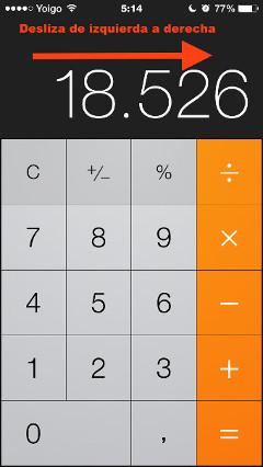 borrar numeros calculadora