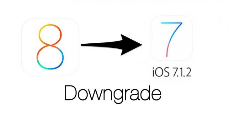 Cómo bajar de iOS 8 a iOS 7.1.2 mientras puedas