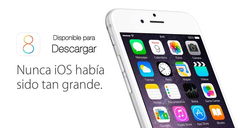 iOS 8 Disponible para descargar, te explicamos cómo actualizar tu iPhone de la mejor forma