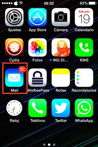 App Mail iPhone