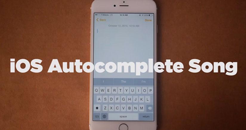 Tienes que ver la pegadiza canción escrita con la función de autocompletar de iOS 8 [Vídeo]