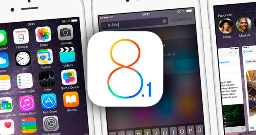 iOS 8.1 disponible para descargar, ya puedes actualizar tu iPhone
