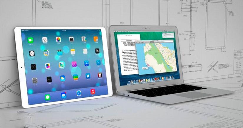 El rumoreado iPad de 12,9 podría usarse con iOS y OSX a la vez