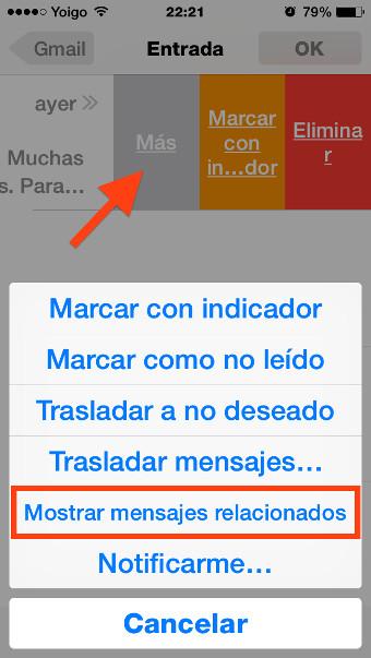 opciones mail