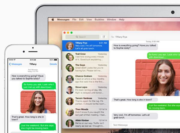 Contestar SMS iOS 8.1 Yosemite