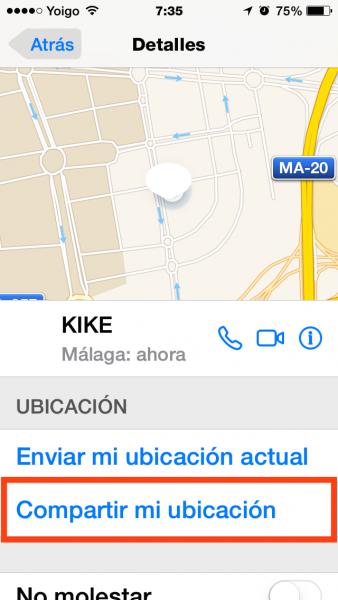 2compartir ubicacion