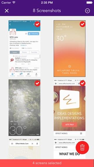 Borrar capturas de pantalla iPhone