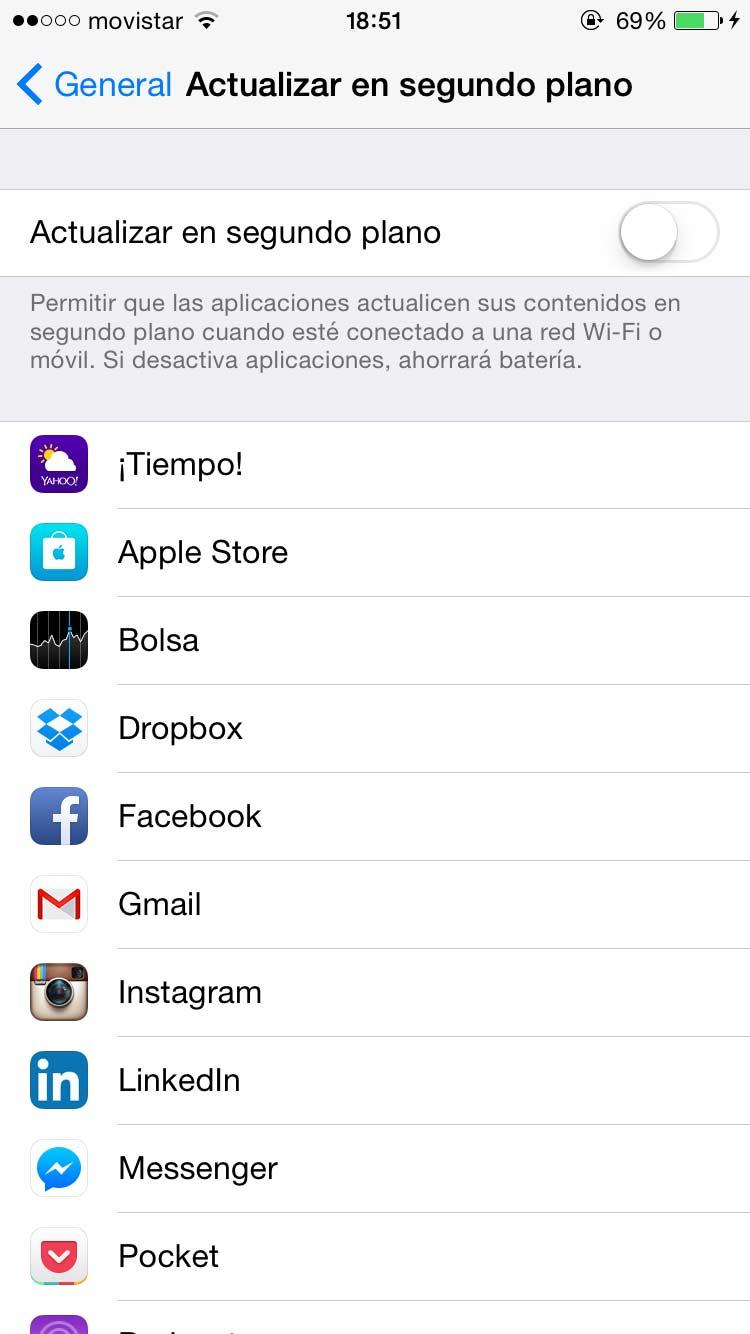 Mejorar Rendimiento de batería iPhone