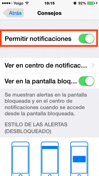 3permitir notif