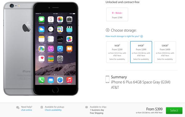 Stock iPhone 6 operadoras