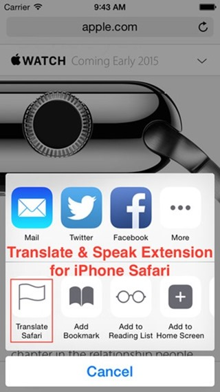 Extensiones Safari iOS 8