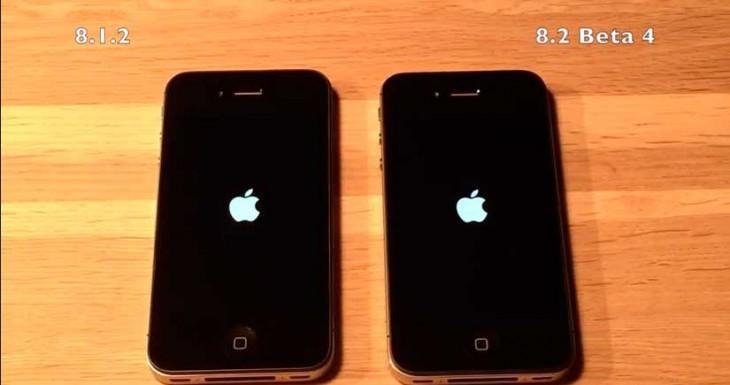 Así funciona iOS 8.2 Beta 4 en un iPhone 4S y en un iPhone 5S [Vídeo]