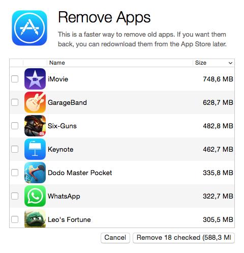 Recuperar espacio iPhone