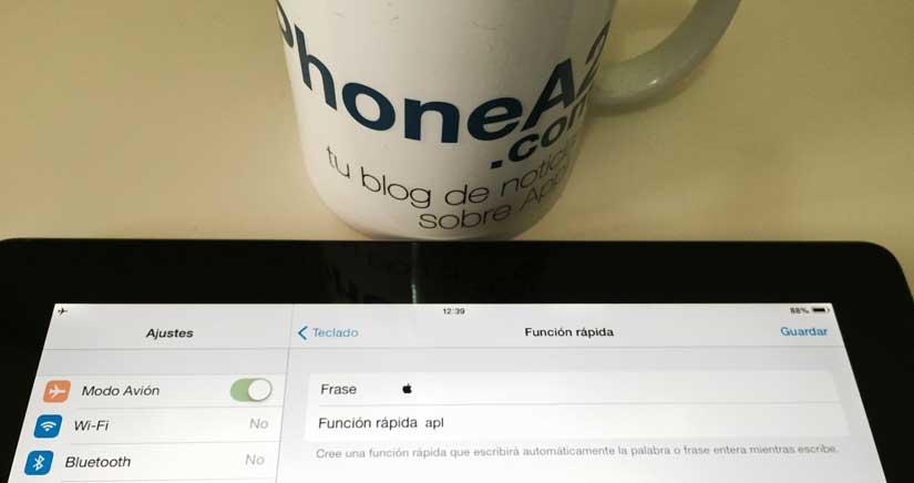Cómo poner la  manzana de Apple directamente desde tu teclado del iPhone [Truc]