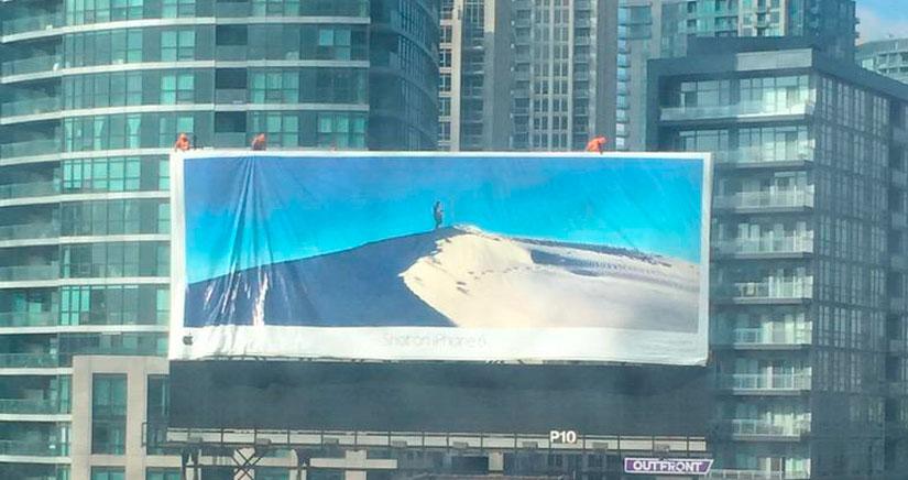 Apple alquila rascacielos para poner las fotos de su campaña Shot on iPhone 6