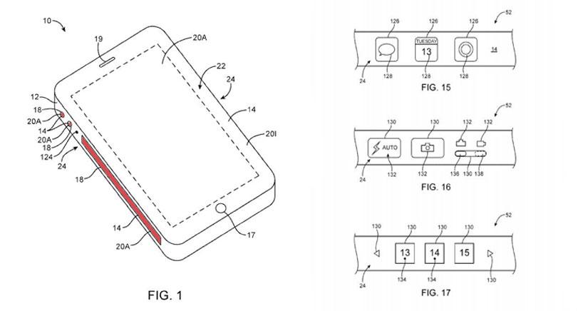 Apple patenta unas pantallas laterales flexibles que podrán utilizarse como botones virtuales para el iPhone