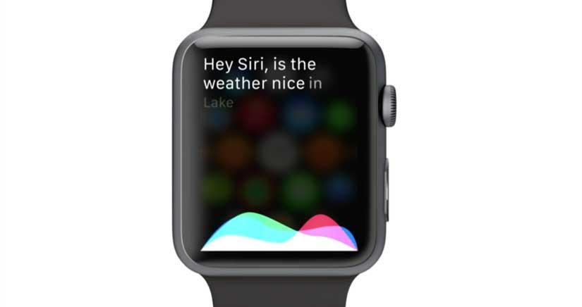 SIRI está muy atareada con el Apple Watch, pregúntale y verás….