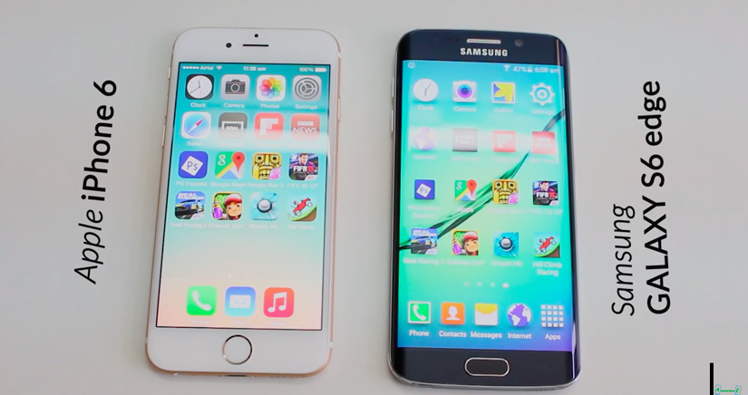iPhone 6 Vs Galaxy S6 Edge cara a cara en un emocionante test de velocidad [Vídeo]