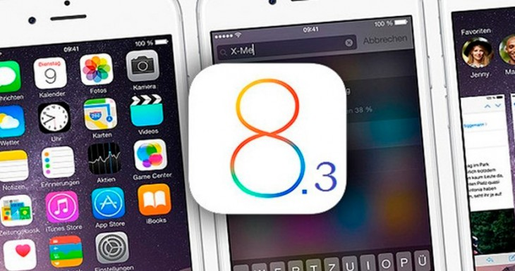 iOS 8.3 disponible para descargar