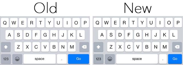 iOS 8.3 teclado