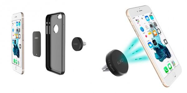 Soporte de iPhone para coche magnético y barato - Aukey Air