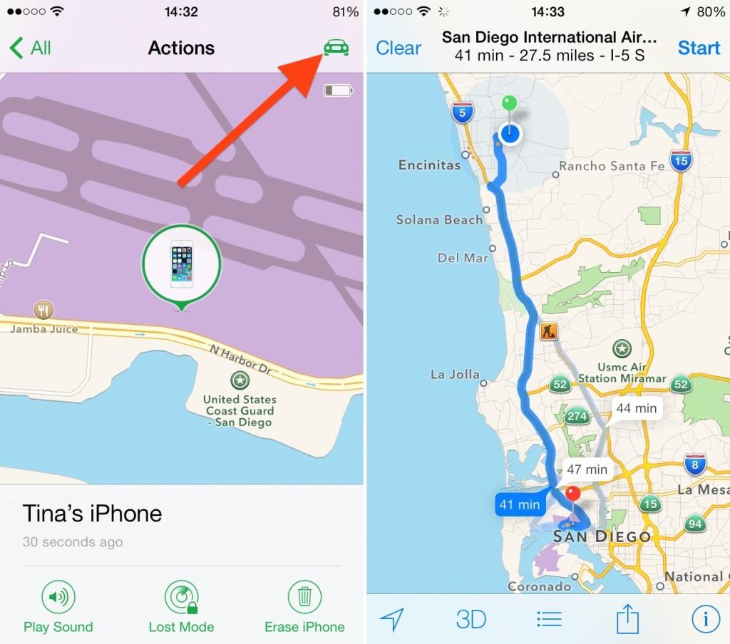 Buscar un iPhone perdido