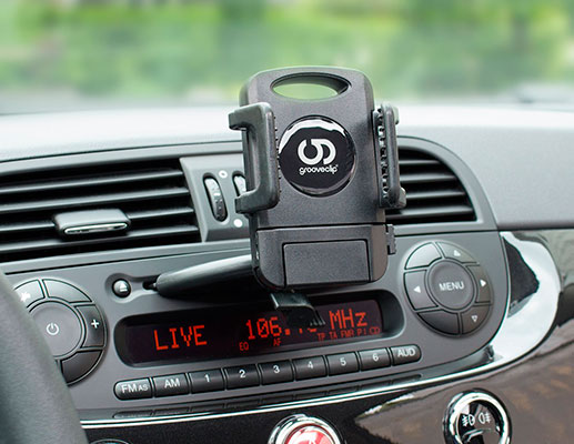 Soporte de iPhone para coches con agarre original - GrooveClip GC023