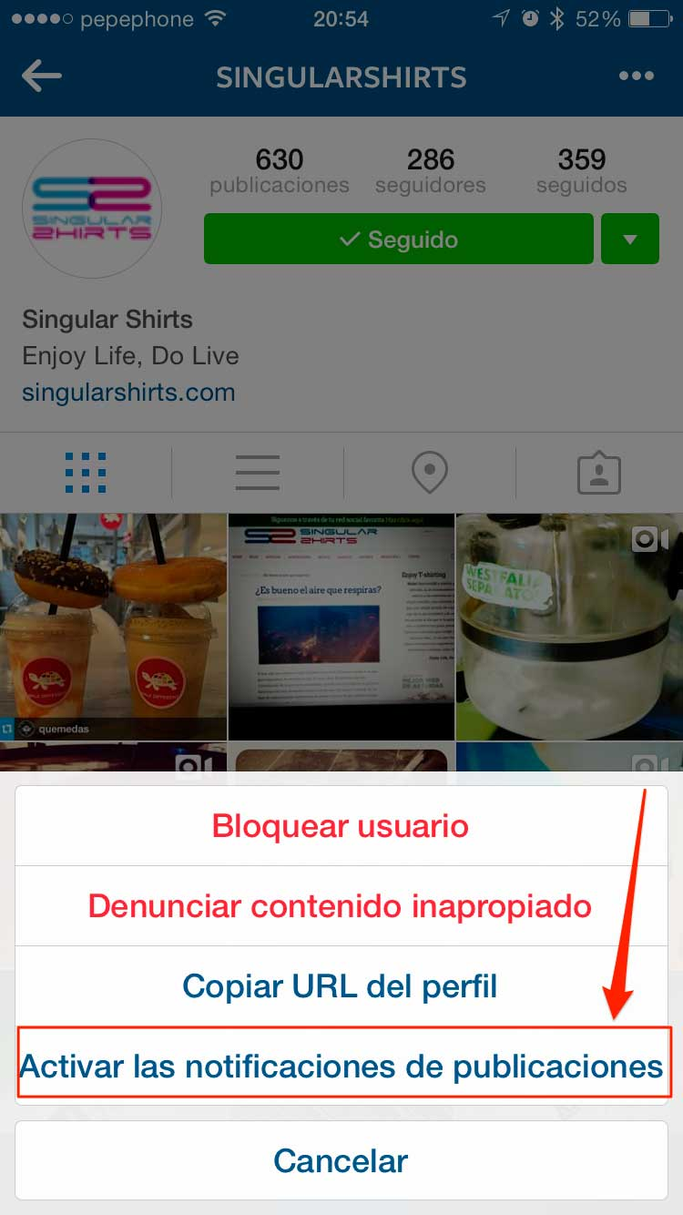 Notificaciones-Instagram