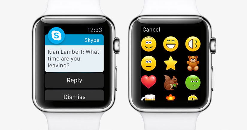 Skype ya es compatible con Apple Watch
