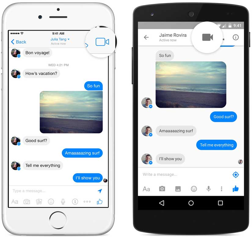 Video llamadas Facebook Messenger