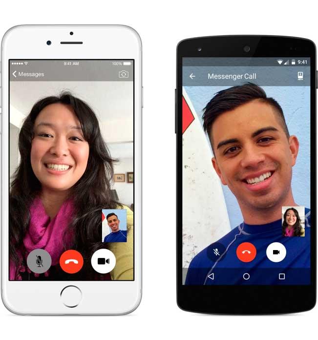 Facebook Messenger se actualiza con vídeo llamadas en muchos países