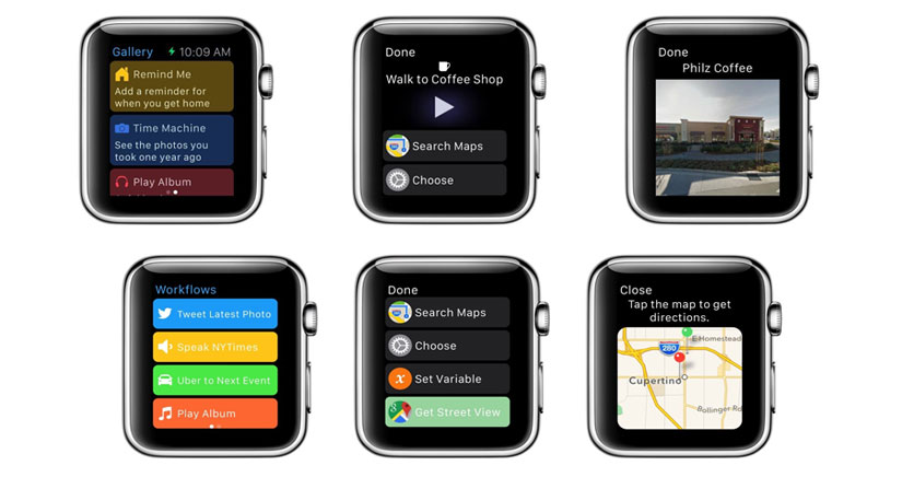Workflow se actualiza y añade soporte para Apple Watch