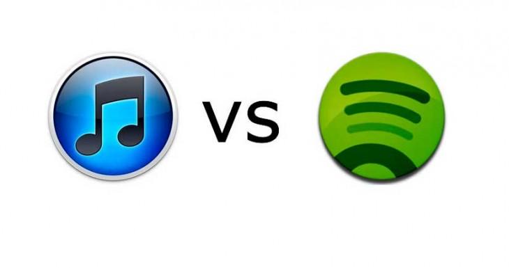 Apple está tratando de cargarse el servicio gratuito de Spotify….