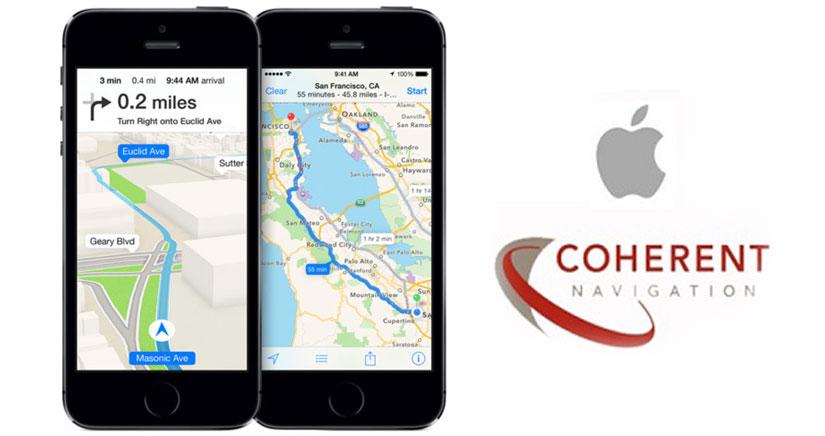 Apple compra la firma de GPS Coherent Navigation