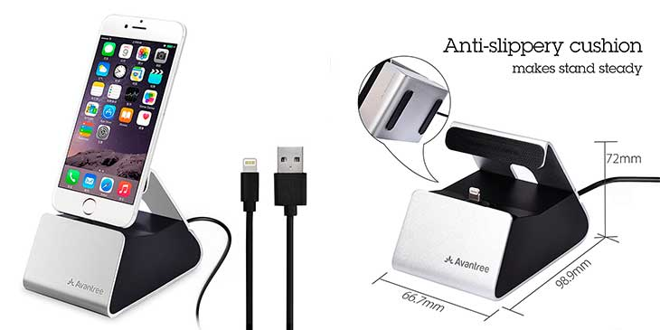 Dock de carga con cable para iPhone - Avantree