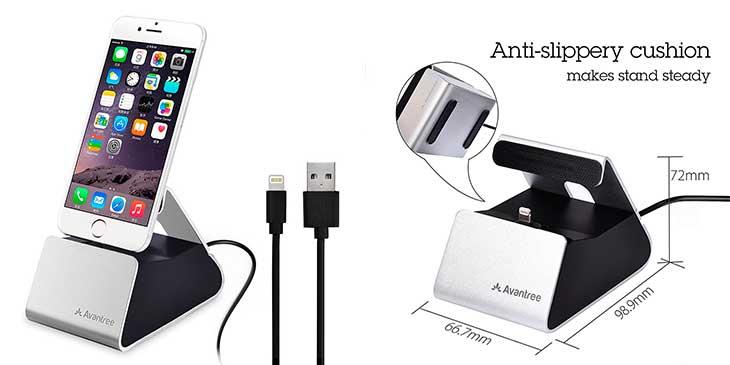 Dock de carga con cable para iPhone - Avantree