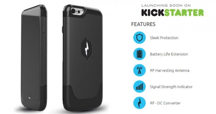 Nikola Labs presenta una carcasa que recarga el iPhone 6 recogiendo energía del aire