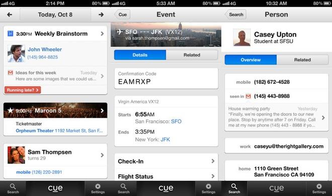 Apple compró la aplicación Cue en 2013