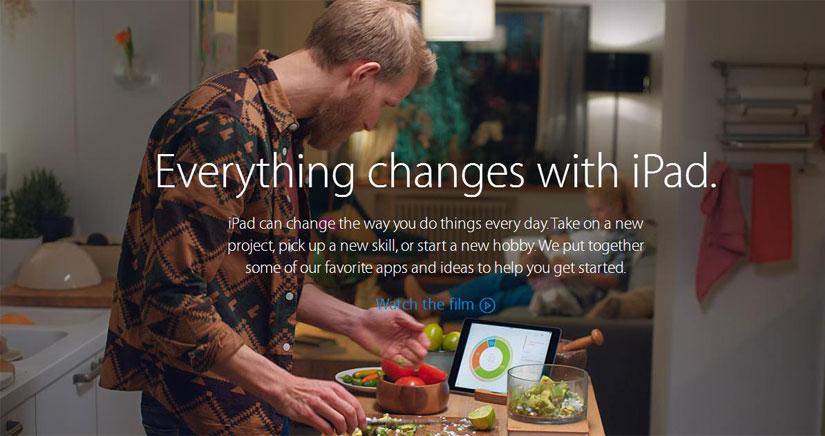 """Apple lanza la campaña """"Todo Cambia con el iPad"""""""